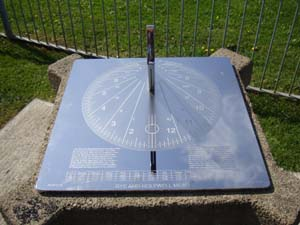 sundial feature in a public park
