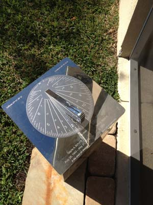 Stainless steel sundials show excellent reflections
