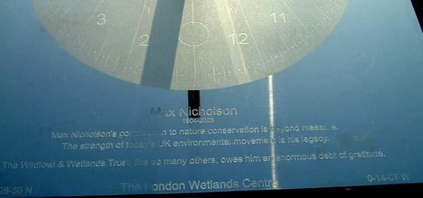 sundial memorial to Max Nicholson